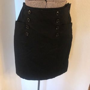 H&M black skirt with buttons